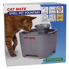 Vattenautmat Shell Pet Fountain Grå Cat Mate (3 liter)