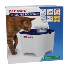 Vattenautmat Shell Pet Fountain Blå/Vit Cat Mate (3 liter)