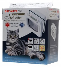 Kattdörr CatMate Elite Chip 355 Super Selective Vit (248x265mm)