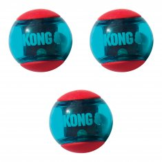 Hundleksak Squeezz Action Red Small 3-p Kong (5 cm)