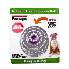 Hundleksak Nubbiez Treat&Squeak Ball Petstages (8,5 cm)