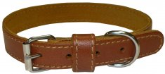 Halsband Läder Medium Toffee Coneckt (16mm/34-40cm)