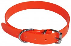 Jakthalsband PVC Orange Small Coneckt (2,5cm/43-48cm)