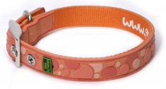 Halsband Gummi Spot Orange (25-30 cm)