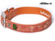 Halsband Gummi Spot Orange (27-35 cm)