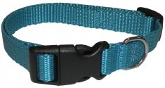 Halsband nylon ställbart Small Turkos ECO Coneckt (15mm/28-43cm)
