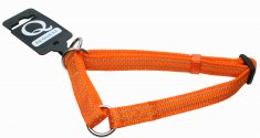 Halvstryp nylon reflex ställbart Orange Gibbon (10mm/20-35cm)