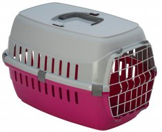 Transportbur Roadrunner 1 Metalldörr Hot Pink MP (51x31x34cm)