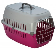 Transportbur Roadrunner 2 Metalldörr Hot Pink MP (58x35x37cm)