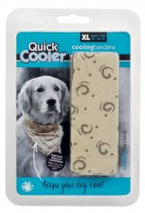 Kylbandana Quick Cooler Beige XL Bee (54-66 cm)